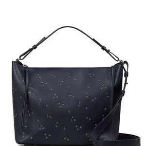 All Saints Junai Leather Convertible Cross Bag